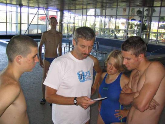 Plavecký trénink v Jablonci